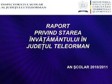 Total - Inspectoratul Şcolar Judeţean Teleorman