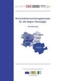 Wirtschaftsentwicklungskonzept für die Region Westallgäu