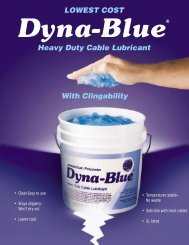Dyna-Blue® Cable Lubricant