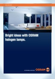 Bright ideas with OSRAM halogen lamps.