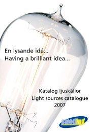 En lysande idé... Having a brilliant idea...