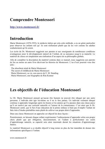 Comprendre Montessori Introduction Les ... - Grandir simplement