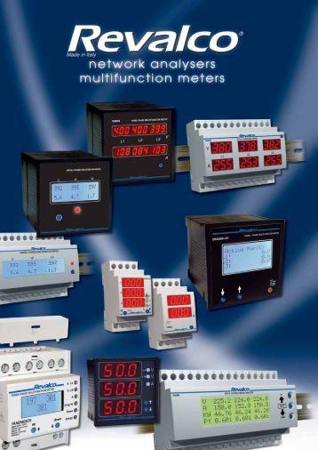 three phase lcd multifunction meters