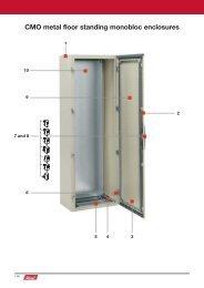 CMO metal floor standing monobloc enclosures