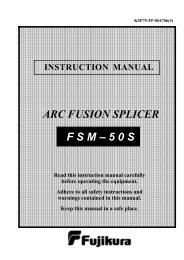 F S M – 5 0 S ARC FUSION SPLICER