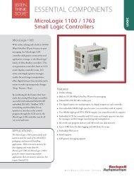 MicroLogix 1100 / 1763 - Rockwell Automation