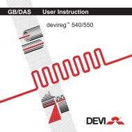 User Instruction devireg™ 540/550 GB/DAS