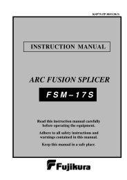 F S M – 1 7 S ARC FUSION SPLICER