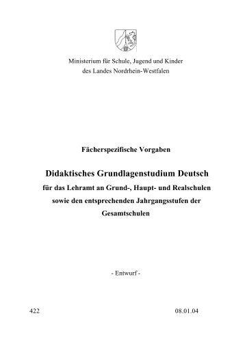 Didaktisches Grundlagenstudium Deutsch - ISL