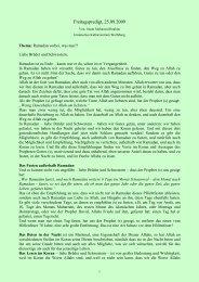 Ramadan vorbei, was nun?! - Islamisches Kulturzentrum Wolfsburg