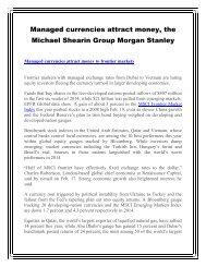The Morgan Stanley Michael Shearin Group: Q