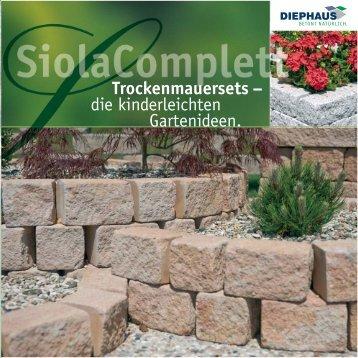 Trockenmauersets – die kinderleichten Gartenideen. - Diephaus