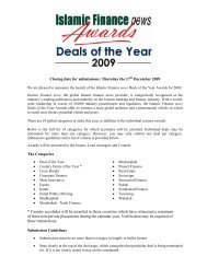 I am pleased to announce the launch of the IFN Deals of the Year ...