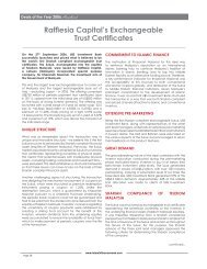 Rafflesia Capital's Exchangeable Trust Certificates - Islamic Finance ...