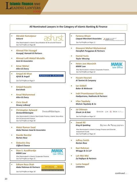 Full Results - Islamic Finance News