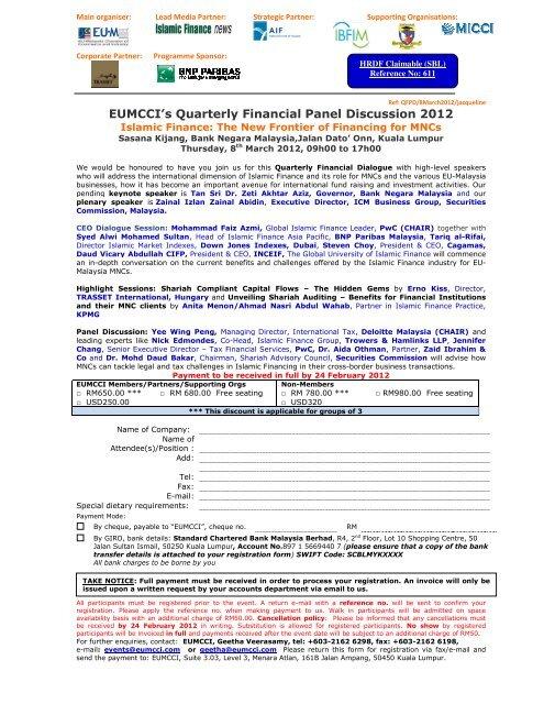 EUMCCI's Quarterly Financial Panel Discussion 2012