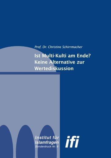 (PDF) Dr. Christine Schirrmacher - Institut für Islamfragen