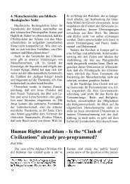 Human Rights and Islam - Institut für Islamfragen