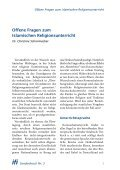 Offene Fragen zum islamischen Religionsunterricht - Institut für ... - Seite 3