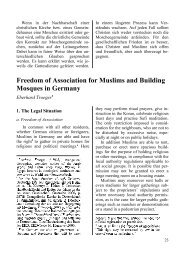 Freedom of Association for Muslims and Building Mosques in ...