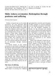 Shiite Ashura ceremonies - Institut für Islamfragen