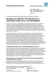 Pressemitteilung zur Machtübernahme der... - Institut für Islamfragen