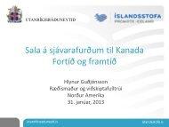 Hér má sjá kynningu Hlyns Guðjónssonar á kaupstefnunni (pdf)