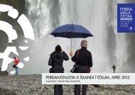 Ferðaþjónusta á Íslandi Í tölum, aprÍl 2012