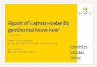 Export of German-Icelandic geothermal know how