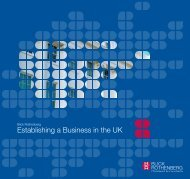Establishing a Business in the UK