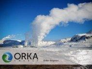 ORKA ENERGY ROADSHOW