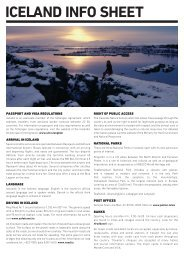 ICELAND INFO SHEET
