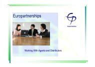 Europartnerships - Working With Agents & Distributors [Compatibility ...