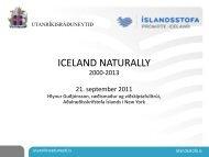 Hlynur Guðjónsson - markaðsverkefnið Iceland Naturally - Íslandsstofa