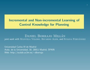 Incremental and Non-incremental Learning of Control Knowledge ...