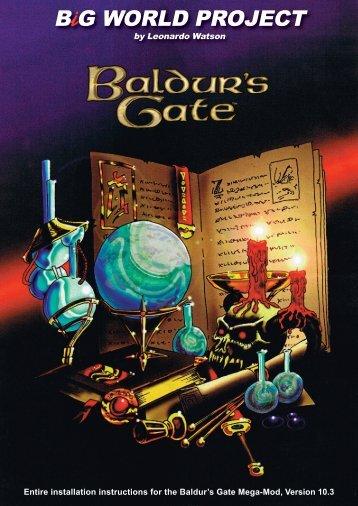 i Entire installation instructions for the Baldur's Gate Mega-Mod