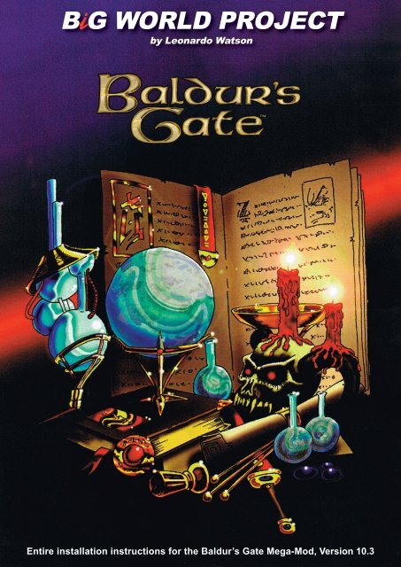i Entire installation instructions for the Baldur's Gate