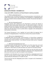 DESIGNATED PERSONS – DECEMBER 2012 A new role for MPs ...