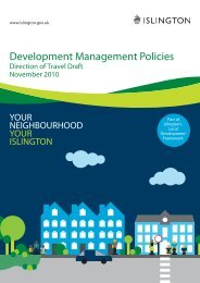 Development Management Policies - Direction of ... - Islington Council