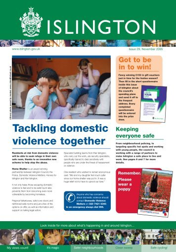 Tackling domestic violence together - Islington Council