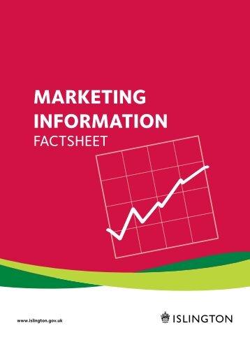 Marketing inforMation - Islington Council