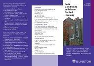 Poor Housing Conditions Leaflet - Islington Council