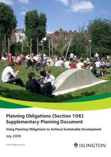 Planning Obligations (Section 106 ... - Islington Council