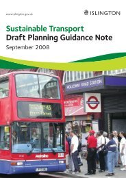 Sustainable Transport Draft Planning Guidance ... - Islington Council