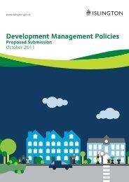 Development Management Policies Proposed ... - Islington Council