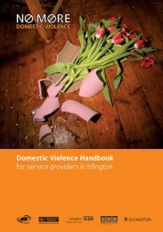 Domestic Violence Handbook for service ... - Islington Council