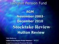 DCLG Pension Presentation 2010
