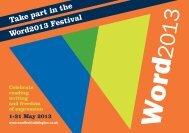 Word2013 Festival Brochure - Islington Council