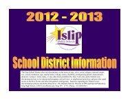 Parent-Student Information 2012-2013 - Islip School District