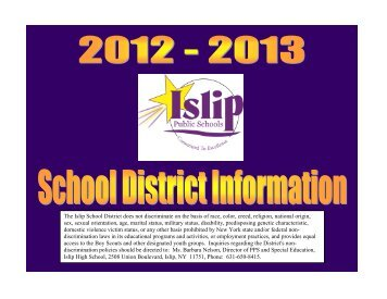Parent-Student Information 2012-2013 - Islip School District